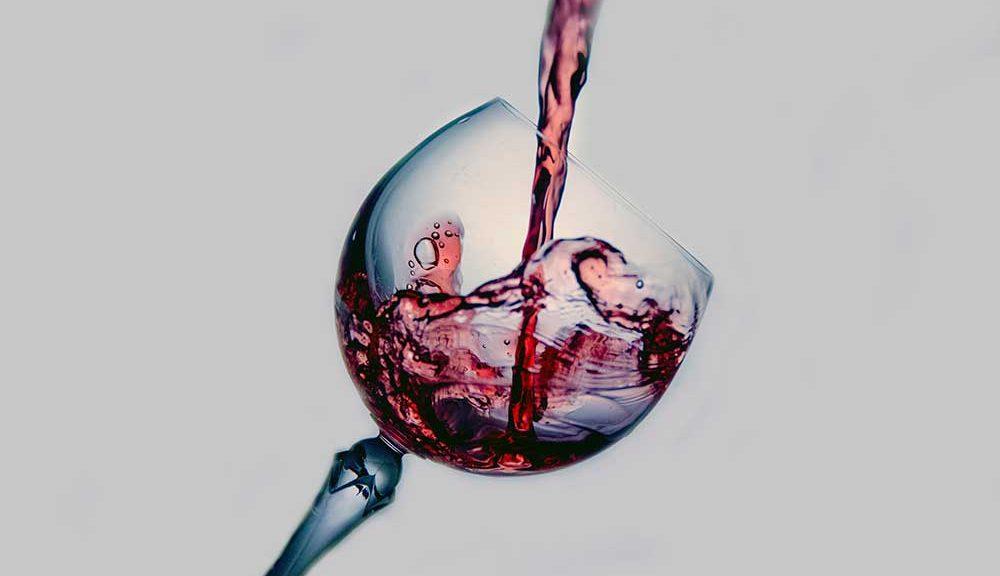 Australian wine in glass