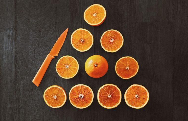 Citrus trees in pots