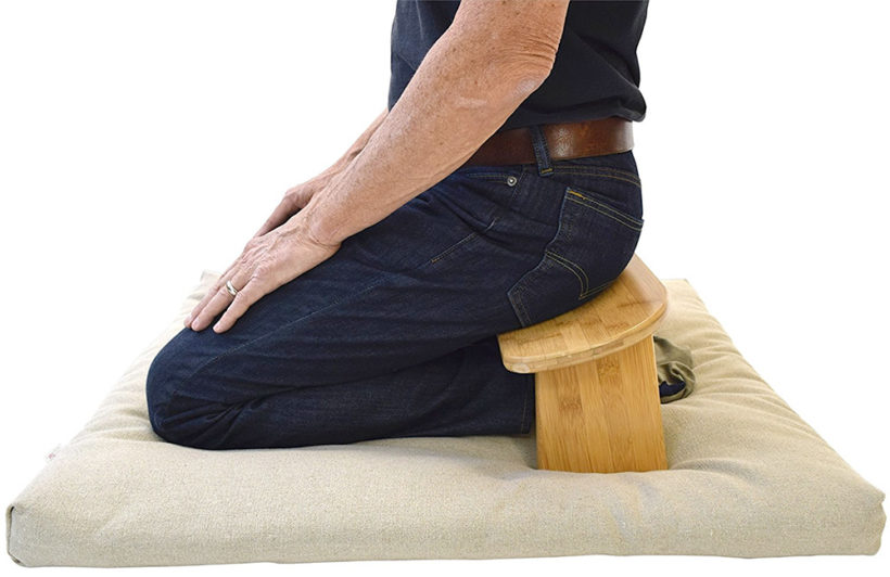 Using a meditation stool