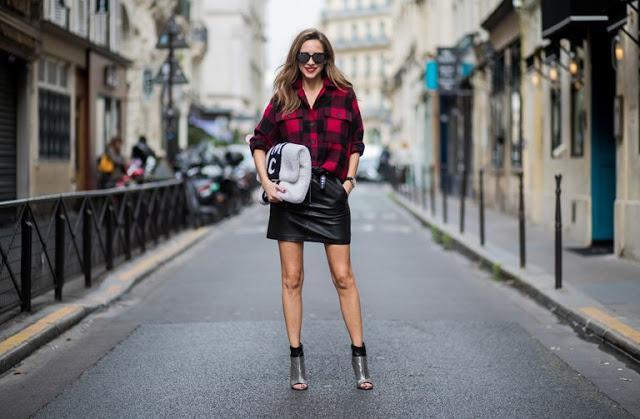 Plaid Shirt +Skirt / Shorts