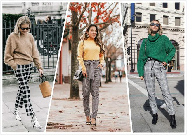 Plaid Pants + Sweater
