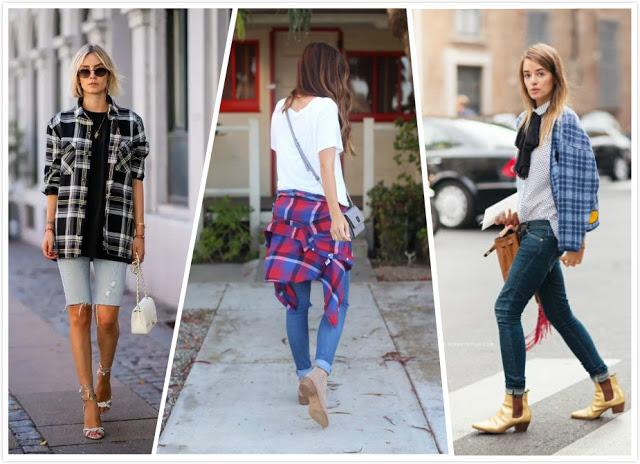 Plaid Shirt+ Jeans
